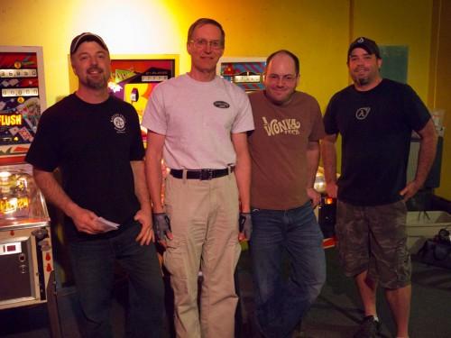 Classics winners: Left-right: Mike Mahaffey, Bob Matthews, Bowen Kerins, Keith Elwin