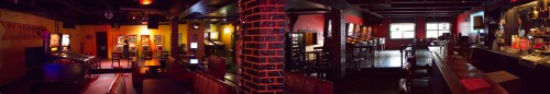 And finally, Eric took this REALLY awesome panorama shot of the interior at Slabtown. Click to view larger.